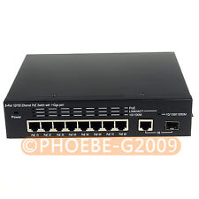 8+1 9 Port Ethernet PoE Switch 8 PoE 1 Gigabit and 1 SFP 120W IEEE802.3af 120W