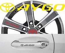 4 x Türgriff- Felgen Aufkleber Toyota Aygo 002 #1515