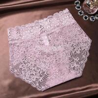 Plus Size Lace Seamless Women Underwear Sexy Ladies Knickers Brief Middle Waist