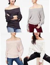 Polyester Off-Shoulder Thin Knit Sweaters for Women | eBay
