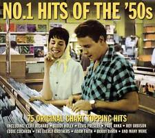 NO.1 HITS OF THE '50s - 75 ORIGINAL CHART TOPPING HITS  (NEW SEALED 3CD)