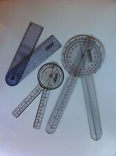"PRESTIGE MEDICAL PROTRACTOR GONIOMETER  3 Piece SET ~ 12"" 8"" & 8"" SPINAL ~"