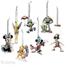 D23~Limited Edition~Silver~ORNAMENTS~7~Mickey+Minnie+TinkerBell~NWT~Disney Store