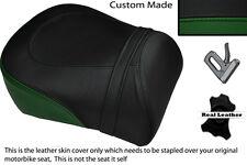 BLACK & DARK GREEN CUSTOM FITS SUZUKI INTRUDER VL 1500 98-04 REAR SEAT COVER