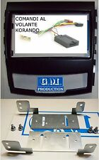 Panneau set contrôle du volant directionnel support radio 2 double DIN SsangYong