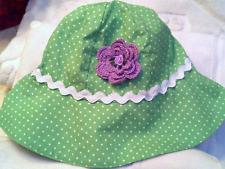 NEW GYMBOREE HAT GREEN POLKA DOT LAVENDER 12 18 MONTHS GIRLS BABY INFANT TODDLER