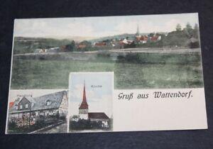 AK Gruß aus Wattendorf/Landkreis Bamberg mit Handlung und Kirche,gel.1918