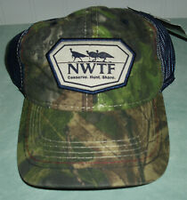 NWTF Mossy Oak Obsession 2018 Committee Hat Cap Camo/Blue New NWT Adjustable