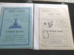3 Vintage & RARE  Harry Stanley Magic Catalogs With Inserts England