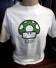 2004 Nintendo Mario Bros 1UP Mushroom Men's Medium White Graphic T-Shirt