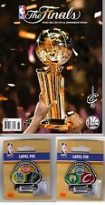 2017 NBA FINALS PROGRAM + EASTERN & WESTERN CONFERENCE FINALS TWO (2) PIN SET