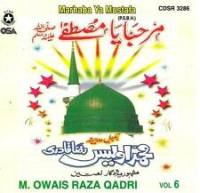 OWAIS RAZA QADRI - MARHABA YA MUSTAFA VOL 6 - NEW NAAT CD - FREE UK POST