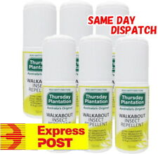 6 x 50ml Thursday Plantation Tea Tree Insect Repellent Roll On biting insects