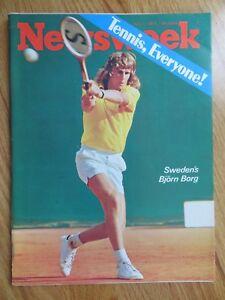 Sweden's BJORN BORG Newsweek 7/1/74 Magazine No Label TENNIS