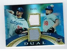 2005 UD UPPER DECK DODGERS DUAL JERSEY CARD BRAD PENNY ERIC GAGNE 16/25 1568