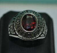 Bague, Chevalière  Us Baseball acier inox panthers jarrod 2006,  rouge ou noir ,