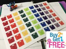 PP012 -- Rainbow Weight Scale Life Planner Stickers for Erin Condren (54pc)