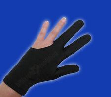 Black Billiard Glove - Size Medium - Double-Stitched Pool Cue Glove