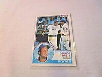 1983 TOPPS GEORGE BRETT KANSAS CITY ROYALS BASEBALL CARD #600 G1740