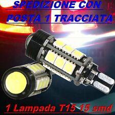 Lampada Led Retromarcia T15 W16W SMD Canbus No Errore COB HID Xenon Bianco 12V