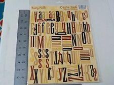 RUSTY PICKLE CAP'N JACK ALPHABET NUMBERS BLACK RED TAN STICKERS NEW A2115