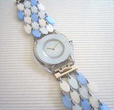 SEA CHIPS! Elegant Swatch SKIN w Shimmering MOTHER OF PEARL Bracelet! NIB-RARE!