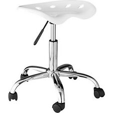 OneSpace 60-101401 Computer Task Chair with Tractor Seat- White NEW
