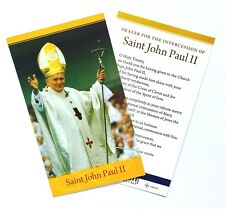 SAINT ST POPE JOHN PAUL 2 CATHOLIC PRAYER CARD