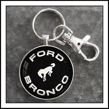 Vintage Ford Bronco Emblem Photo Keychain Pendant Gift 🐴