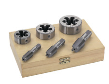 """6 Pc 1/4"""" 3/8"""" 1/2"""" Inch High Carbon Steel Pipe Tap & And Die Set Free Shipp"""