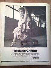 MELANIE GRIFFITH seated magazine PHOTO / Clipping  12x9 inches