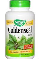 Nature's Way, Goldenseal, Herb, 400 mg, 180 Vegetarian Capsules