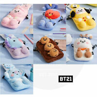 BTS BT21 Official Authentic Goods Plush Cross Bag Baby Ver + Tracking Num