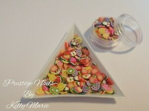 2ml Pot Fimo Fruit Slices Decorations Gems Crafts Apples Orange Embellishments