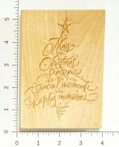 Hampton Art Stamps Sentiment Tree Rubber Stamp JD4834  Christmas Tree Holiday