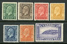 CANADA 1932 DEFINITIVES MINT, OG #195-201