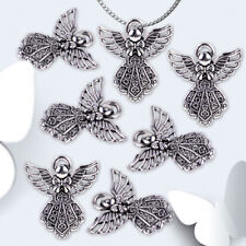 20pcs Retro Silver Angel Wings Pendant Charms Beads for Jewelry Crafts Necklace