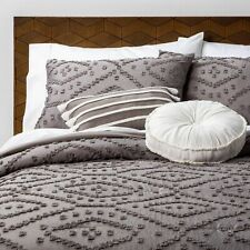 Opalhouse 5 pc Multi Piece Bedding Set Gray Olympia Clipped King
