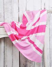 Classic UK Flag Union Jack super morbido tiro coperta in pile caldo in tonalità rosa