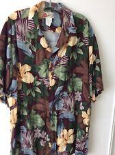 Traditional Vintage Mens Hawaiian Aloha Shirt HILO HATTIE Sz 2X Rayon Cruise