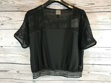 Puma Women's Black Explosive Mesh Top Workout Perforated XL X-Large NWT NEW CC