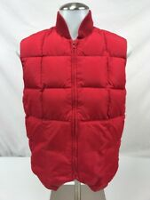Vintage CABELAS Down Puffer Field Vest Red Womens Size Small