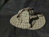 Vintage RARE Tomlison Double 2 Sided Bill ribbon brown retro pattern Worker hat