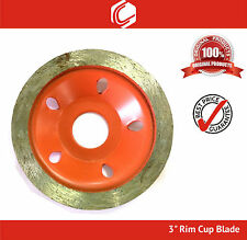 "3"" Diamond Cup Wheel for Concrete Masonry Grinding fits 4"" Angle Grinder"