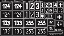 Alliance Model Works 1:35 Stencils Tiger I Late s.Pz.Abt. 504 & 510 #LW35039