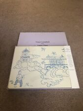 Nina Campbell For Lady Clare Blue Manchu Set Of 4 Placemats New In Box