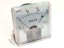 0 - 15V 0 - 30V Escala Vintage bobina móvil panel Voltímetro 1mA fd6g16 FSD