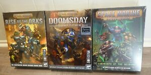 Space Marine Adventures: BUNDLE (3 Board games) Doomsday, Necrons and Orks NEW**