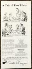 1938 Wesson Oil PRINT AD A Tale of 2 Tables Vegetable Casserole Cabbage Favorite