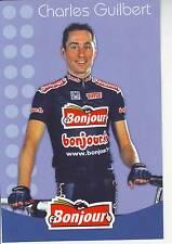 CYCLISME carte cycliste CHARLES GUILBERT équipe  BONJOUR.fr 2002